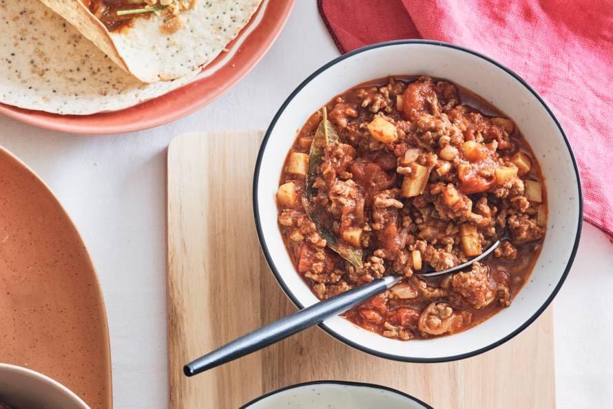 Gehakt met knoflook en specerijen (picadillo)