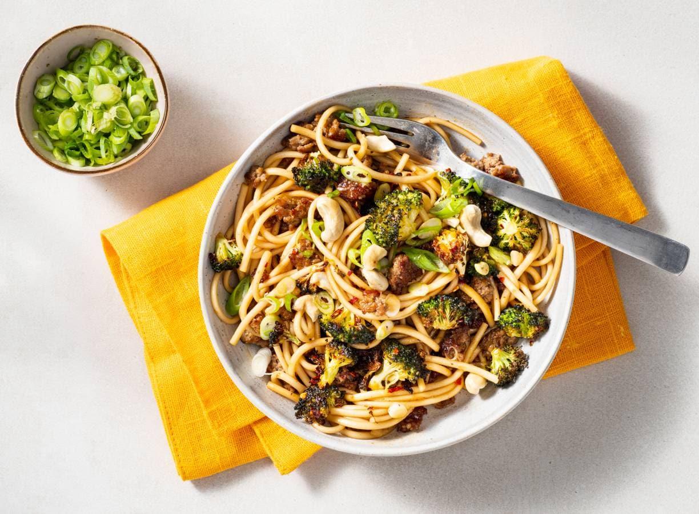 Noedels met crispy broccoli