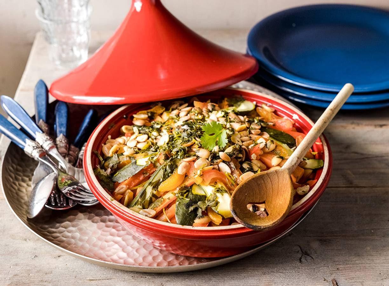 Tajine met kip en groente