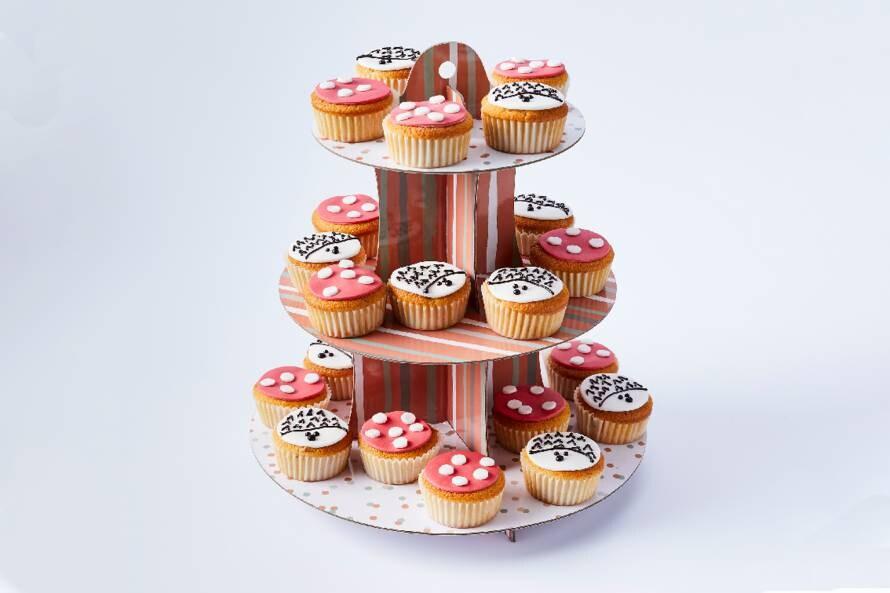 Cupcakes met peer en kaneel