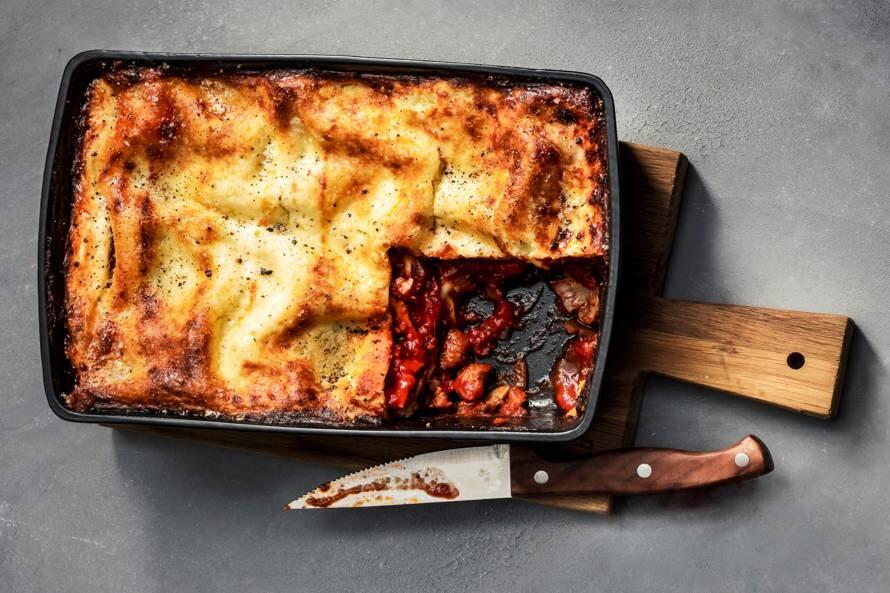 Lasagne met chipolata en champignons (advertorial)